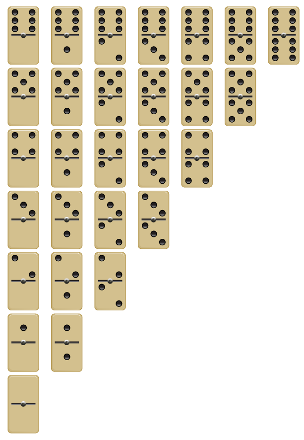 how many tiles are in a game of dominos? | Yahoo Answers